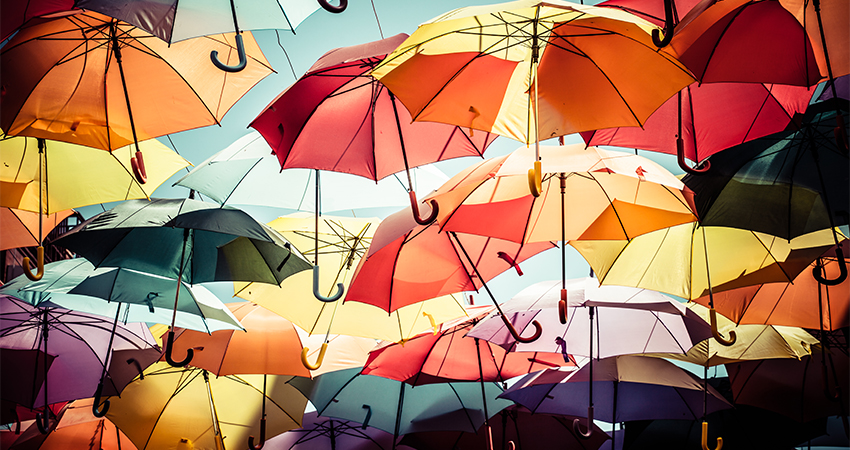 colour umbrellas